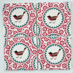 4 Ceramic Coasters in Emma Bridgewater Christmas Joy Robin and Holly